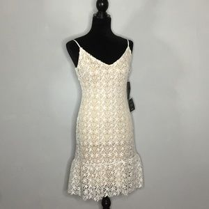 Lulu's Bodycon White Lace Dress NWT Size Small